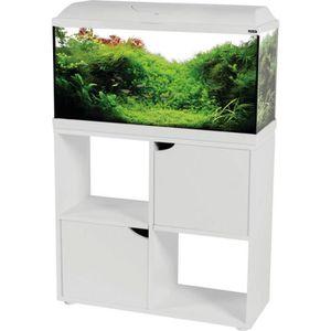 AQUARIUM Kit Aqua Iseo 80 cm Blanc + Meuble 84L