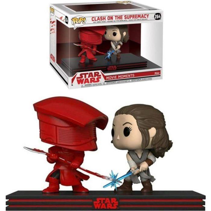 2 Figurines Funko Pop! Movie Moment - Star Wars Ep.8: Combat Rey et garde d'élite Prétorien