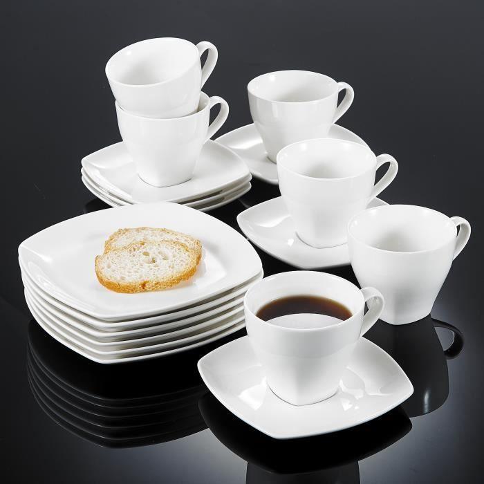 vancasso 18pcs service caf th porcelaine 6 tasses 6. Black Bedroom Furniture Sets. Home Design Ideas