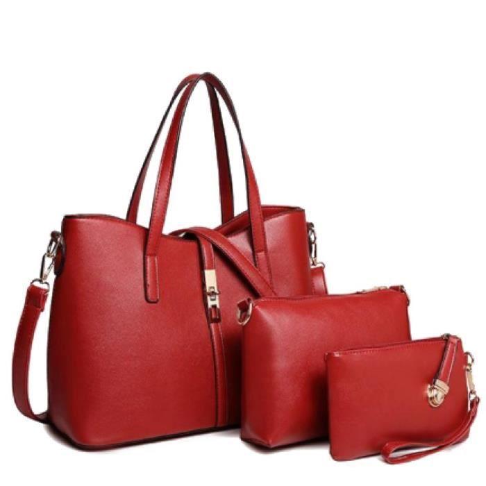 Élégant 4 femmes en 1 Combo de sac à bandoulière, sac Sling, Satchel, titulaire de la carte, (4 en 1 Sac Combo) ( WL2B4