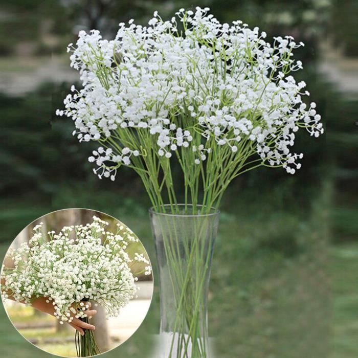 12 fleurs artificielles blanches joli gypsophile c r monie f te mariage soir e achat vente. Black Bedroom Furniture Sets. Home Design Ideas