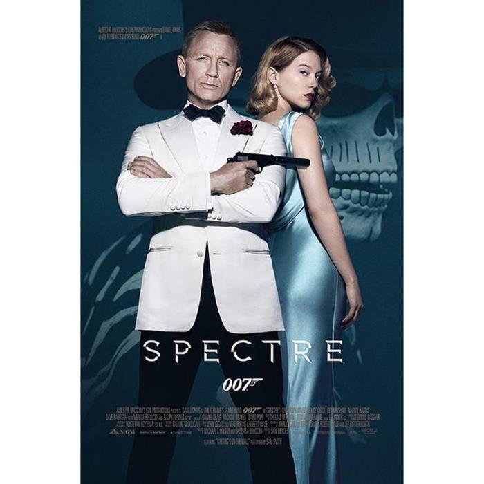 poster james bond 007 spectre affiche de cin ma achat vente affiche poster cdiscount. Black Bedroom Furniture Sets. Home Design Ideas