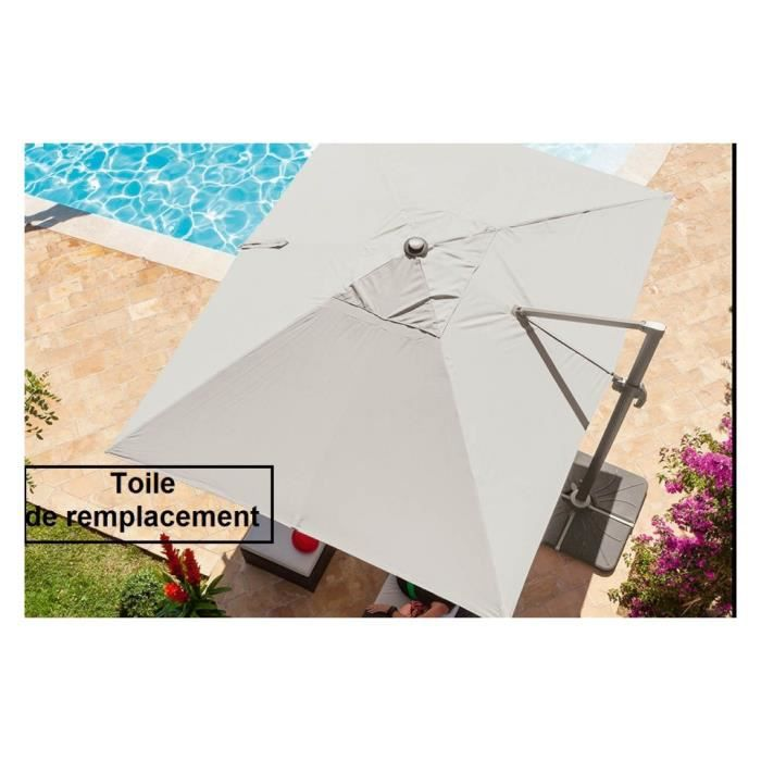 toile de parasol rectangulaire - achat / vente toile de parasol