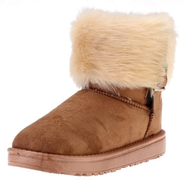 Bottes de neige cheville Bottine femme Chaussur...