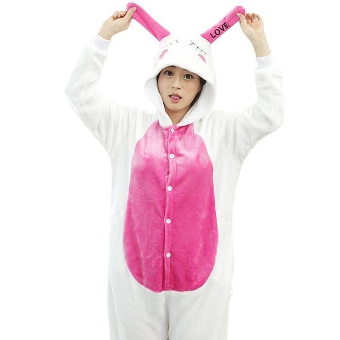remise pour vente États Unis les mieux notés dernier Flanelle pyjama kigurumi animé Lapin femme homme cosplay Automne et D'hiver  pour adolescente Halloween Noel pour adultes robe