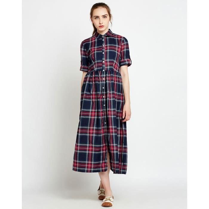 Trendtwo Bertha Checkered T-shirt de la femme Robe Chèques & Plaid Maxi Dress FBXVI