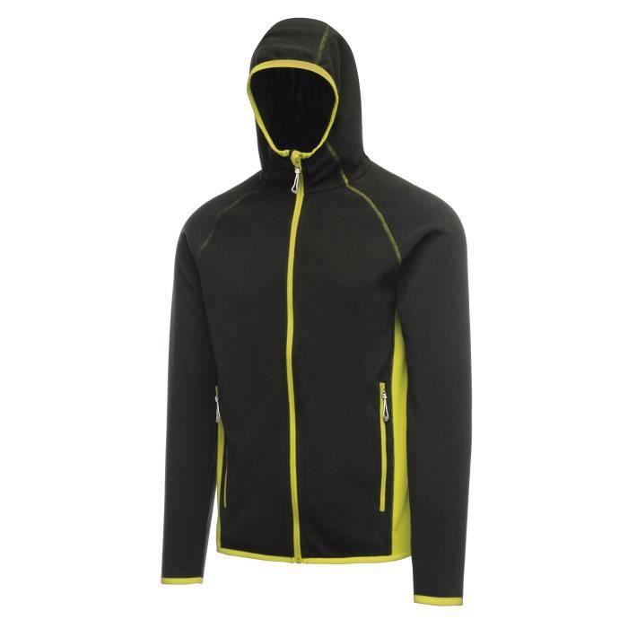 Homme Noir Veste Seoul Activewear Regatta Zippée Vert Polaire Yw7EXq1