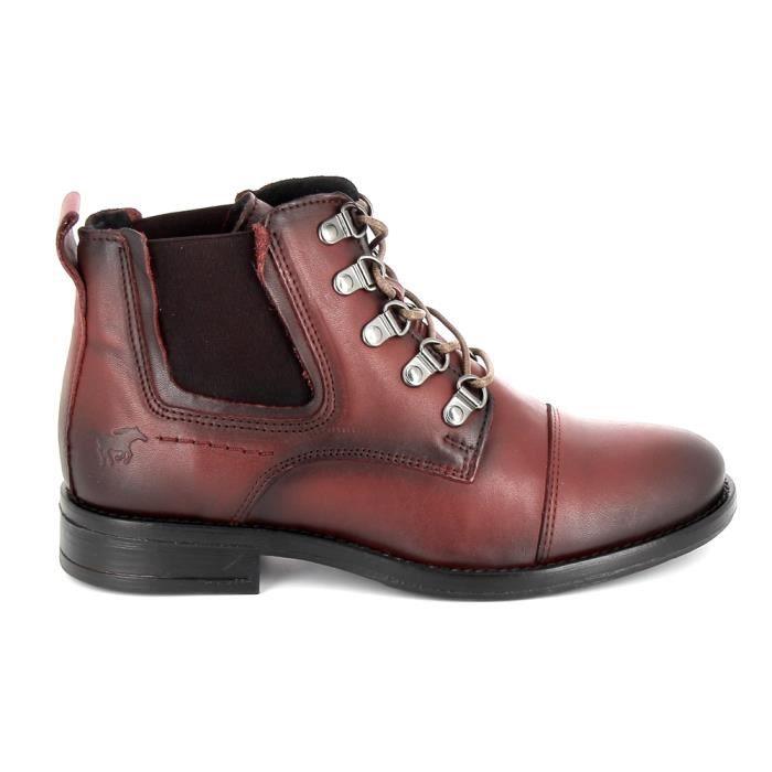 best service 4ff98 c7525 Chaussure de ville MUSTANG Sneakers 2872501 Bordeaux Rouge ...