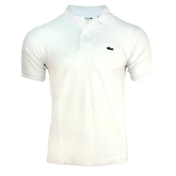 Homme Classic Vente Blanc Polo 12 12 Fit Achat L Lacoste drWCexoB
