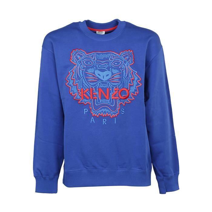 F955sw5574xe74 Sweatshirt Bleu Kenzo Homme Achat Coton PiTXZkuwO
