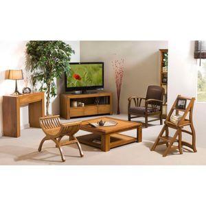 meuble tv bois exotique achat vente pas cher. Black Bedroom Furniture Sets. Home Design Ideas