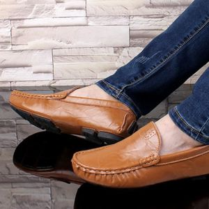 Mocassin Hommes Mode Chaussures Grande Taille Chaussures BZH-XZ73Jaune46 3jLljE