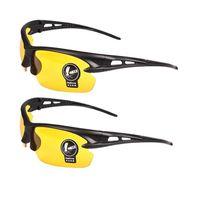 e7cdbbbb67 FUVHC 2 paires unisexe lunettes de soleil de vision nocturne verres ...