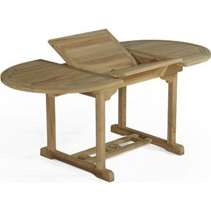 Table de jardin en teck massif ovale - Achat / Vente pas cher