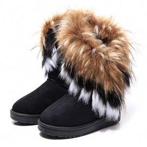 BOTTE Bottes neige femme Garder au chaud fourrure de ren