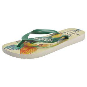 TONG Havaianas Ipe Femmes Flip Flop Beige Vert - 35-36