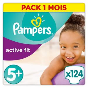 COUCHE Pampers Active Fit Taille 5+, 13-25 kg - 124 Couch
