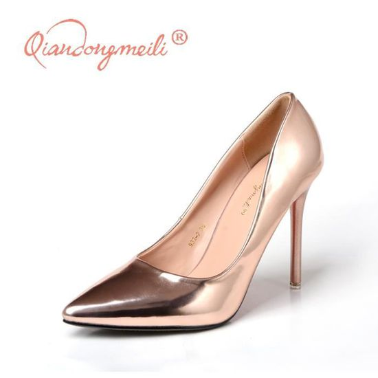 Womens Pumpes Champagne Sexy Toe Pointed tdsQxhCr