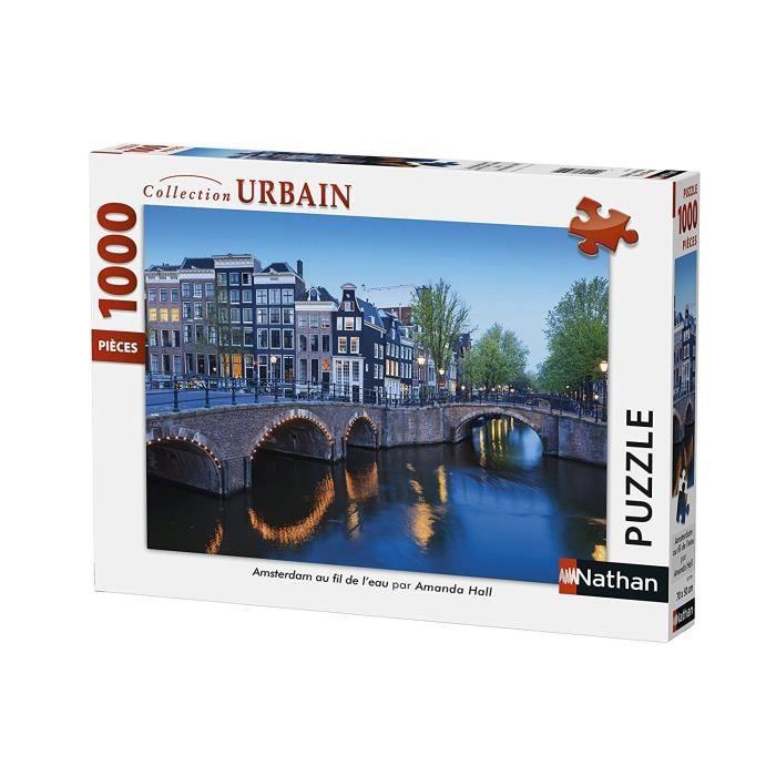 Puzzle Amsterdam au fil de l'eau 1000 pcs