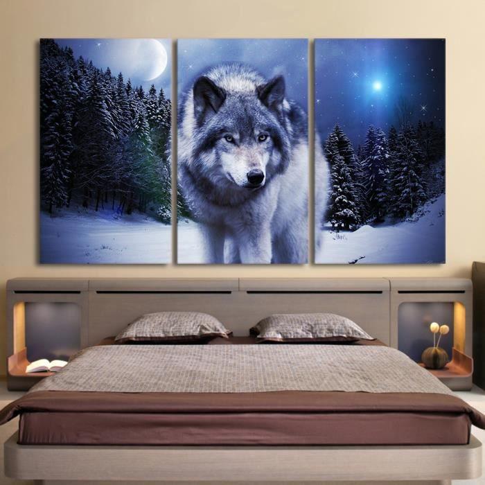 toile tableau loup achat vente toile tableau loup pas. Black Bedroom Furniture Sets. Home Design Ideas