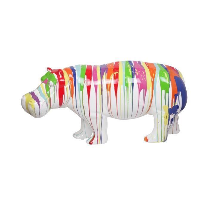 170 Achat Statue Multicolore Hippopotame Cm Résine En Gabriel ucJ3TlFK1