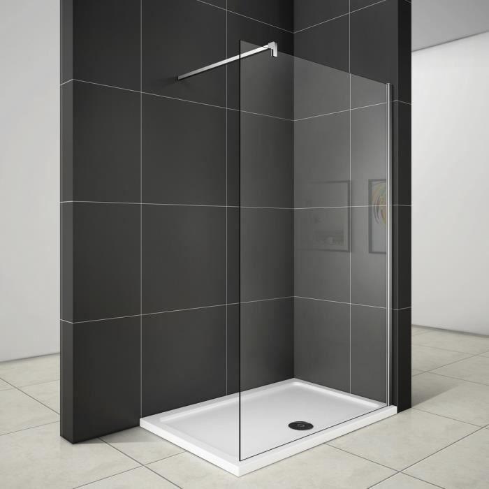 paroi de douche 140x200cm porte de douche verre 10mm anticalcaire