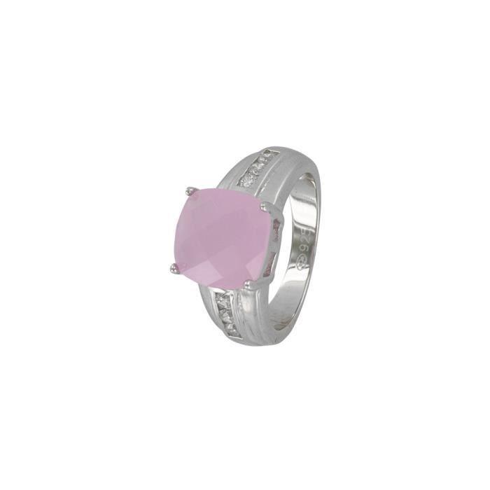 Jouailla - Bague - Argent 925-1000 rhodié - Oxydes de zirconium-