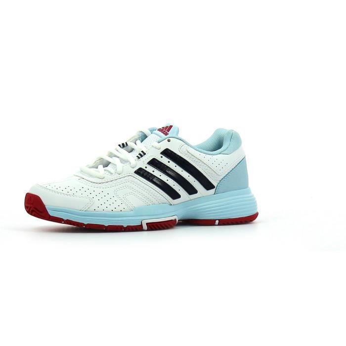 d12a44d12258 ADIDAS Chaussures de Sport Barricade Court Blanche et Bleu Navy ...