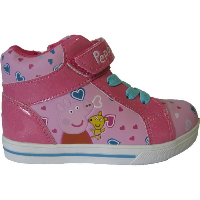 Baskets montantes Peppa Pig pour filles