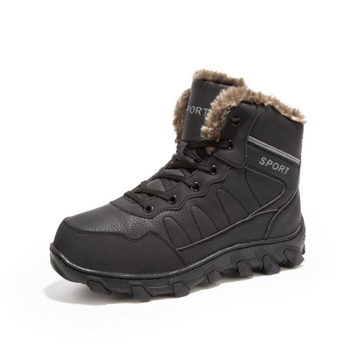 Baskets mode Baskets homme Chaussures alpinisme Chaussures hiver Chaussures chaudement avec coton Nouveauté Chaussures Trail
