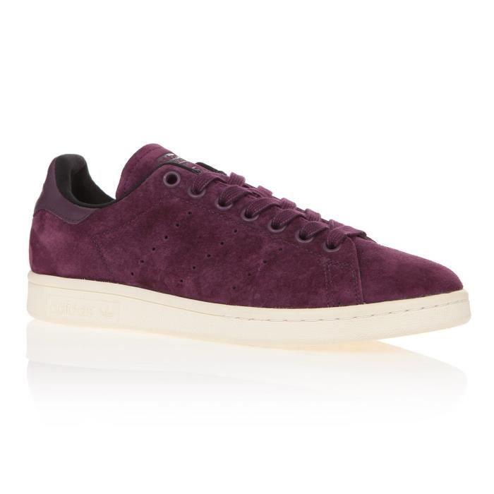 daed3cf5002e33 ADIDAS Baskets Stan Smith - Femme - Rouge bordeaux Violet Violet ...