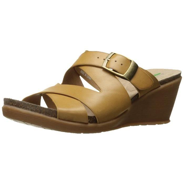 Femmes Bare Traps Sandales Compensées
