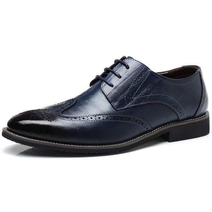 moderne O6266 Dress Cuir 39 dentelle 2 1 Up Taille Chaussures Oxford awHwAqOx