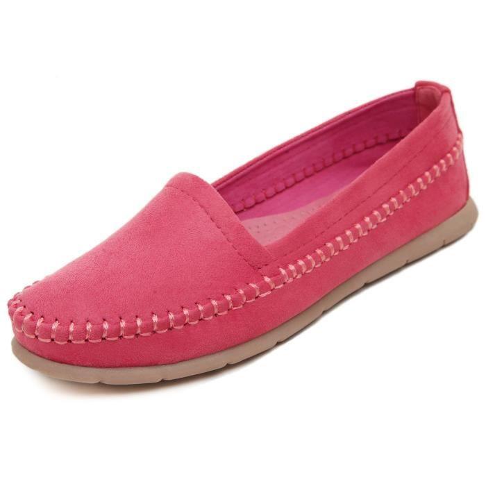 Femmes Flats Comfort Slip On Mocassins de conduite Casual UN87T Taille-36 1-2