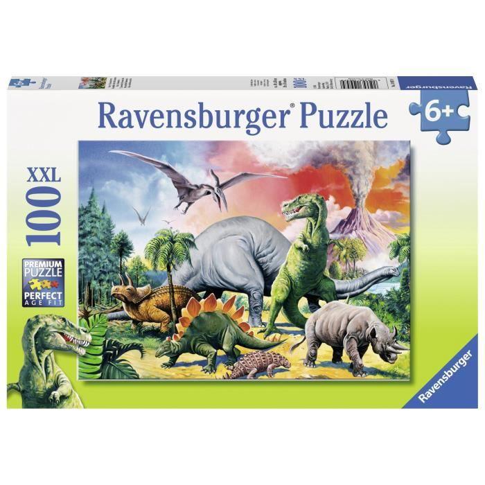 PUZZLE RAVENSBURGER Puzzle 100 p XXL - Au milieu des dino