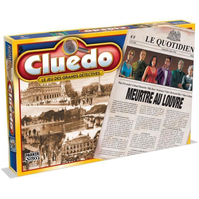 JEU SOCIÉTÉ - PLATEAU HASBRO Cluedo Meurtre au Louvre