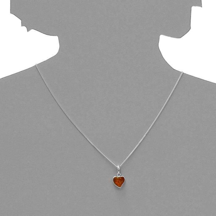 541a200220890 - Collier Femme - Argent 925-1000 - Ambre T26H1