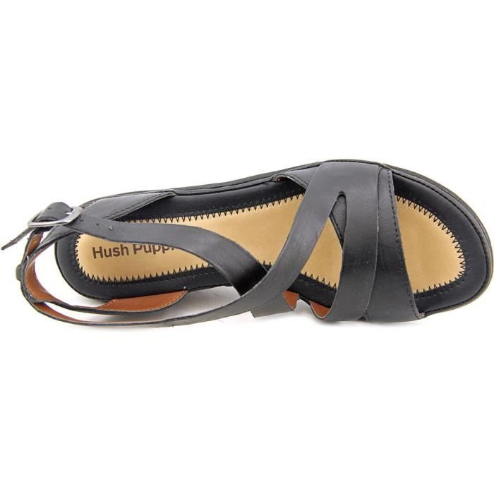 Hush Puppies rory russo Cuir Sandales Compensés kQbsp