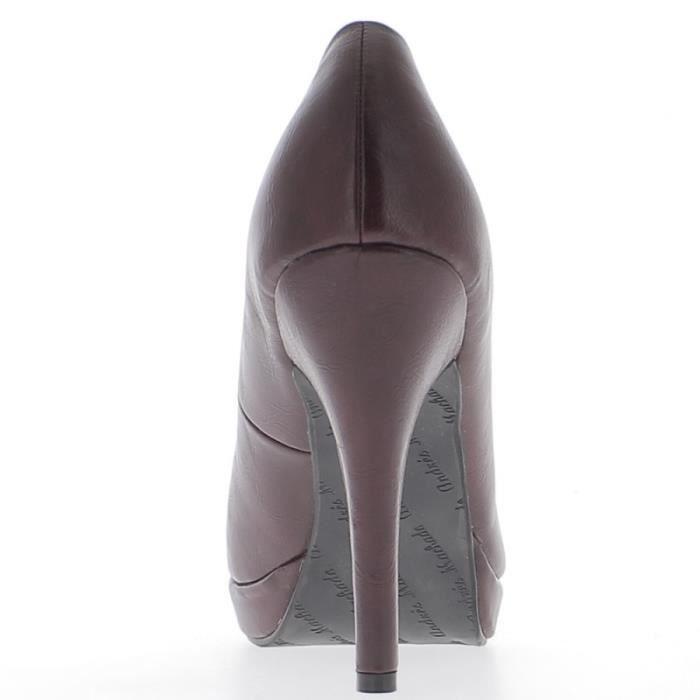 Escarpins femmechocolat à talon de 12cm et plateforme