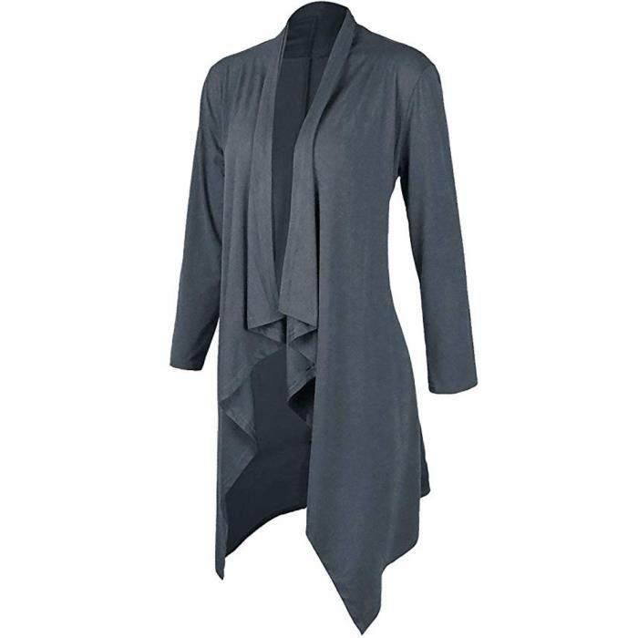 Solide Personnalité Manches Veste À Longues Couleur Grande De Cardigan Paontry6361 Taille Femmes dFzqYdx