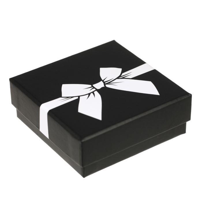 OR ECLAT Boucles dOreilles Pendantes Or Blanc 375° et Oxydes de Zirconium Femme