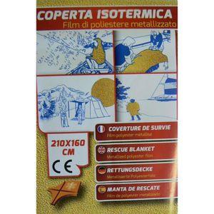 SAC D'ARMEMENT PLASTIMO Couverture de survie thermique