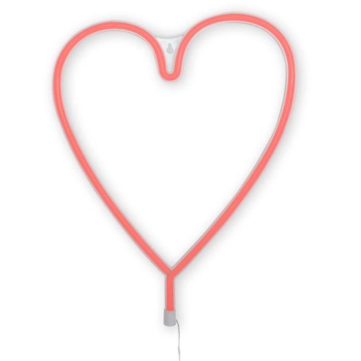 Lampe 36x29cm Néon Achat Dresz Vente Heart Rouge Au n0kOPw