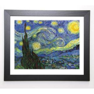 VAN GOGH Image encadrée Nuit Etoilée ? St. Rémy - 47x57 cm - Bleu