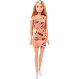 POUPÉE Barbie Chic poupée Blonde avec Robe Orange et Chau
