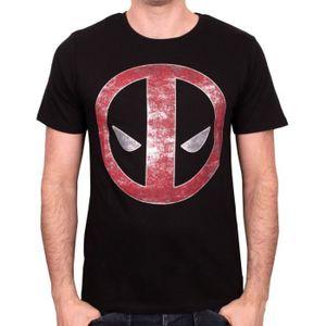 T-SHIRT T-shirt Adulte Deadpool Logo Millar - Noir
