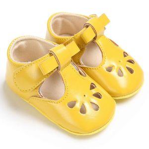 Frankmall®Bébé fille garçons Soft Sole berceau enfant douce sandales nouveau-nées chaussures JAUNE#WQQ0926250 ZO2zbpp