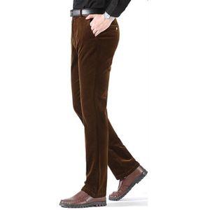 PANTALON Pantalon homme Marque Luxe en velours côtelé affai
