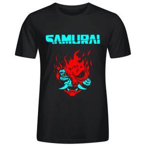 CHEMISE DE SPORT Homme Cyberpunk Samurai Tee Shirts - Blouse Coton
