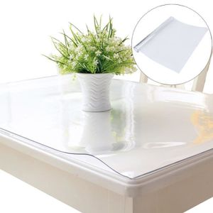 Intachable Movie nappe pvc 2mm epais cristal anti-tache protège table meuble pour